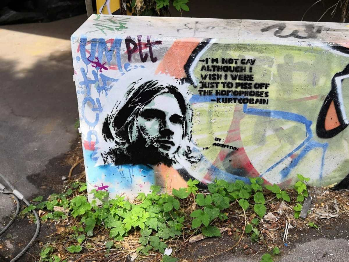 Airstream Adventures Kurt Cobain Graffity Berlin Teufelsberg