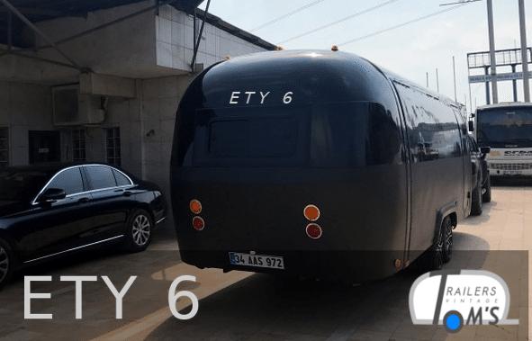ETY 6 Foodtrailer schwarz hinten