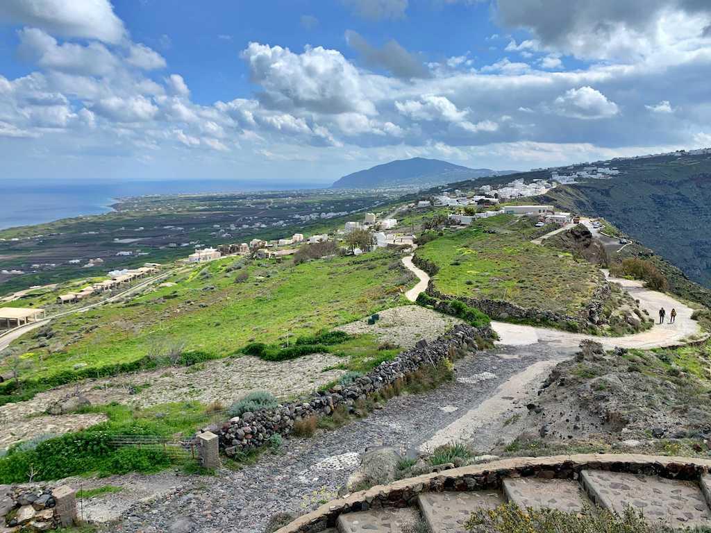 サントリーニ島の風景