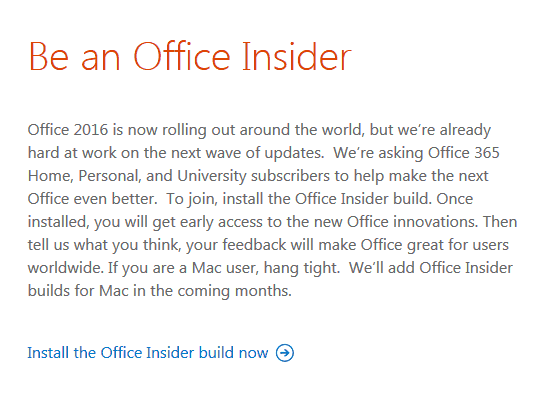 Office Insider And O365 First Release Programs Test New Builds And