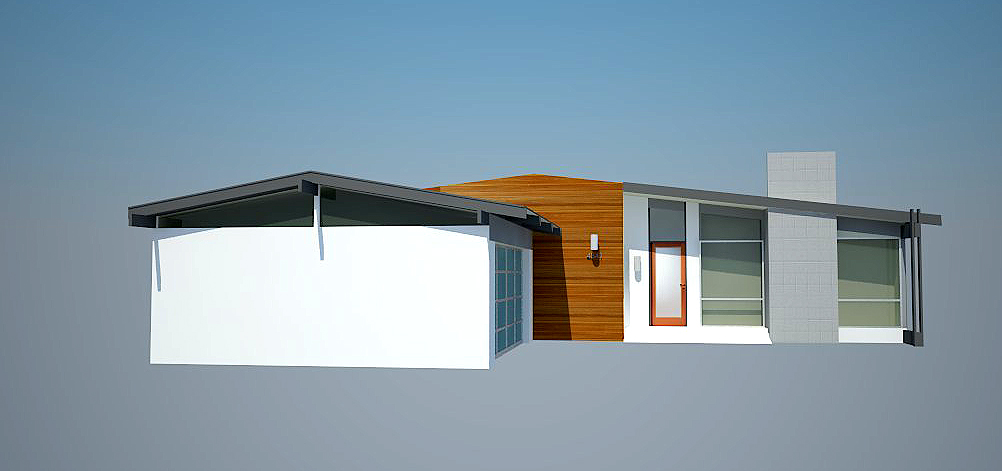 Mid Century Modern House Design   Here s the house design I came up with for my new Mid Century Modern