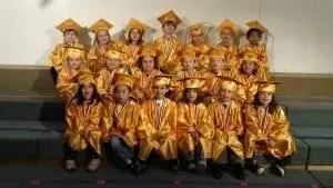 tom thumb preschool students graduation