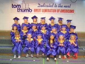 Tom thumb preschool graduation class