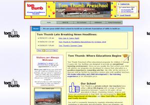 2011 Tom Thumb Preschool Website