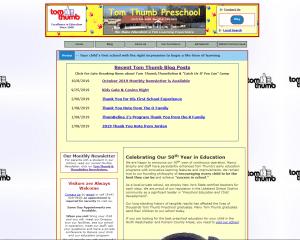 Current Tom Thumb Preschool Website