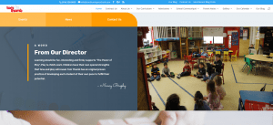 Our New Tom Thumb Preschool Website - further down the Home Page