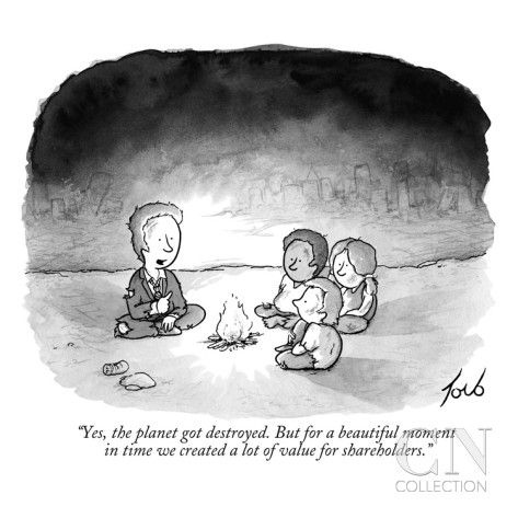 Yes, the planet got destroyed. But for a beautiful moment in time we created a lot of value for shareholders.
