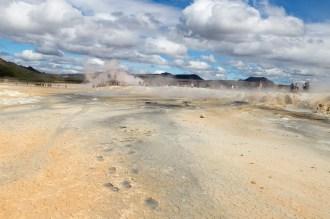 Geo-thermal area landscape