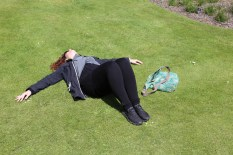 Wendy basking in the sun at Royal Botanic Gardens, Edinburgh.