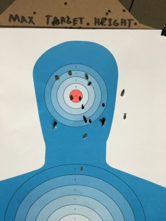 My target from 20 yards. Not bad