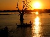 Zonsondergang @ U-Bein Bridge Myanmar