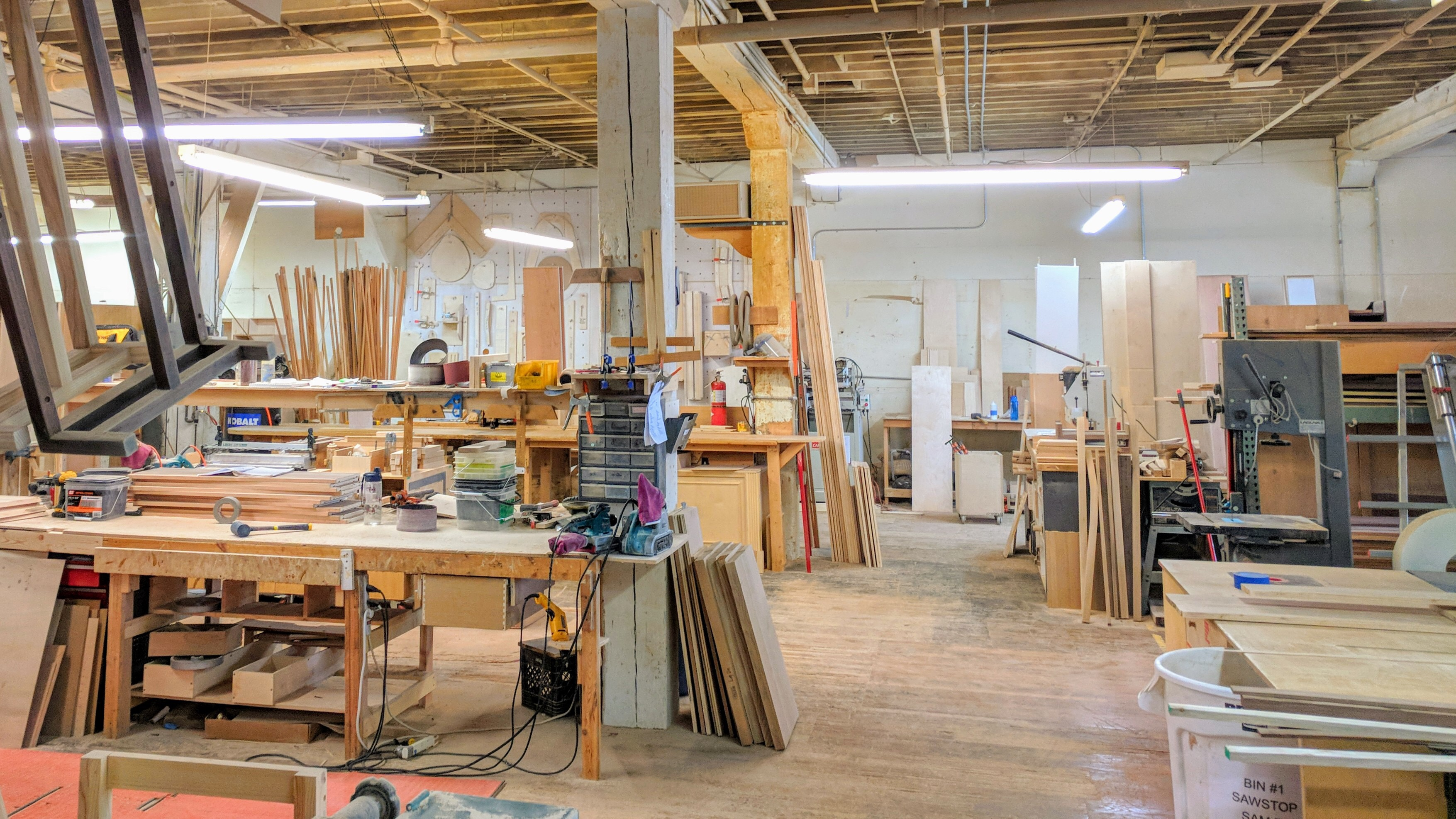 We Walked Through A Dusty Woodworking Shop Where Workers Were Building  Furniture From American Hardwoods Using Traditional Methods.