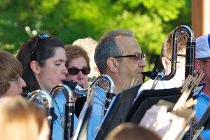 Crystal Lake Community Band bass clarinets