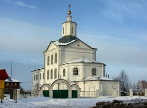 Russian church in the snow