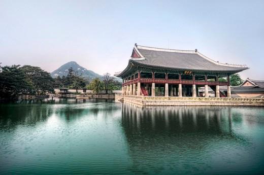 Gyeonghoeru Pavilion at Gyeongbokgung Palace, Seoul, South Korea