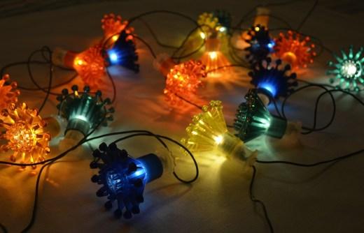 String of festive lights