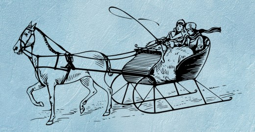 Old-fashioned horse and sleigh