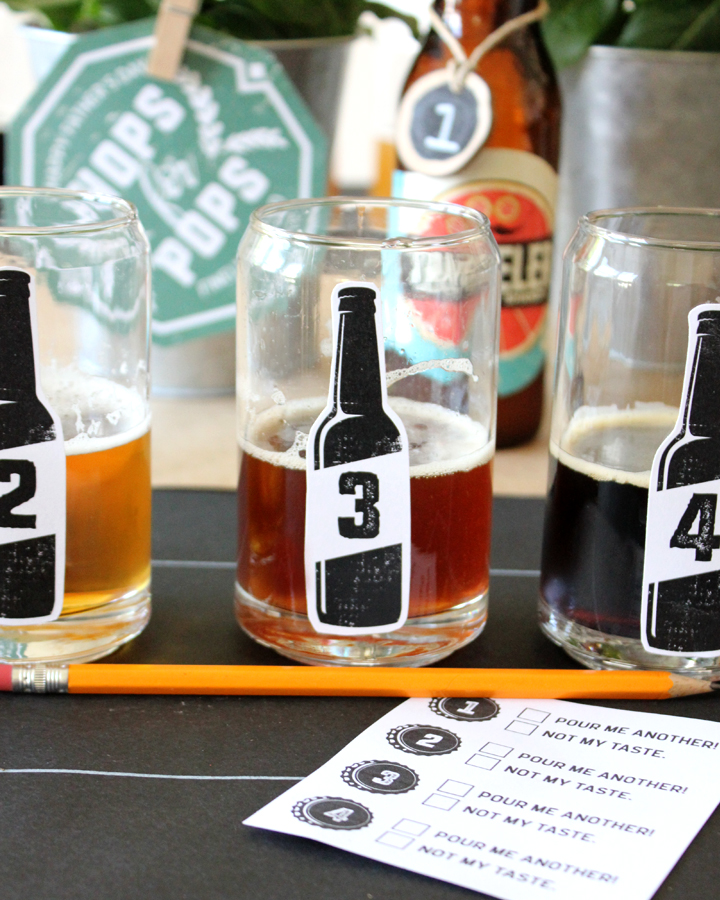 Father's Day Beer Tasting with FREE Printables