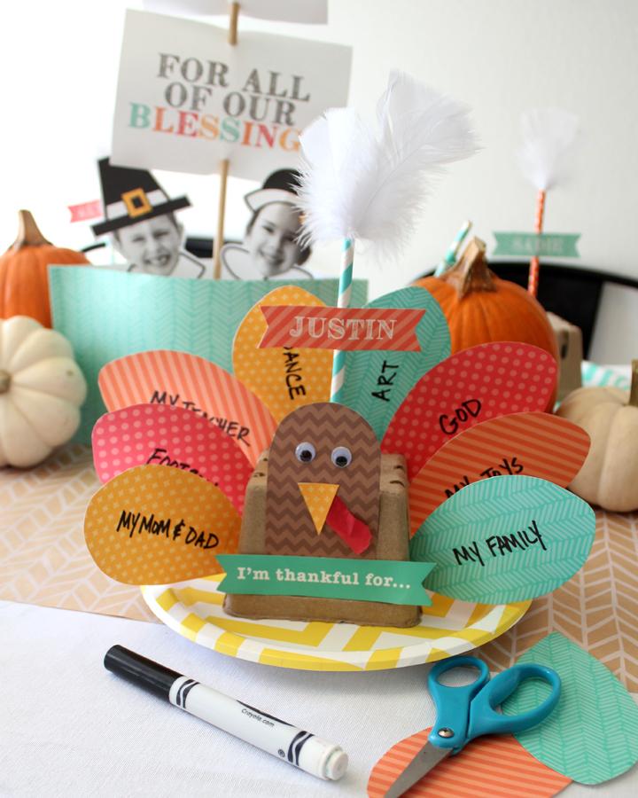 FREE Thankful Turkey Printable - Thanksgiving Kids Craft