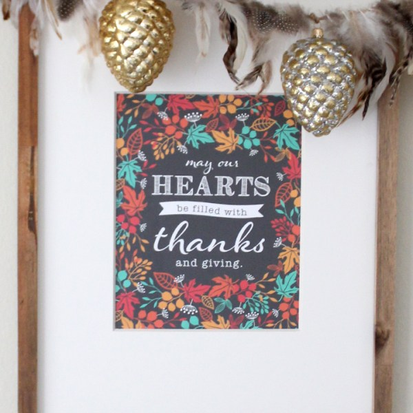 FREE Thanksgving Printable from Tonality Designs
