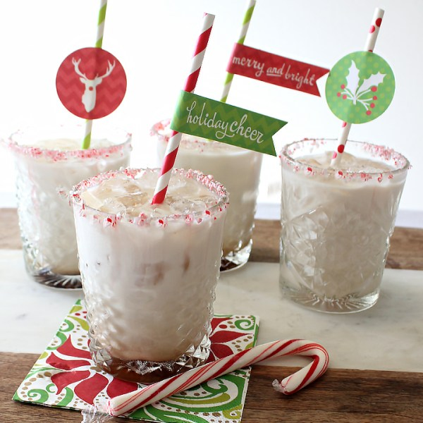 Peppermint White Russian and FREE Holiday Toppers and Tags