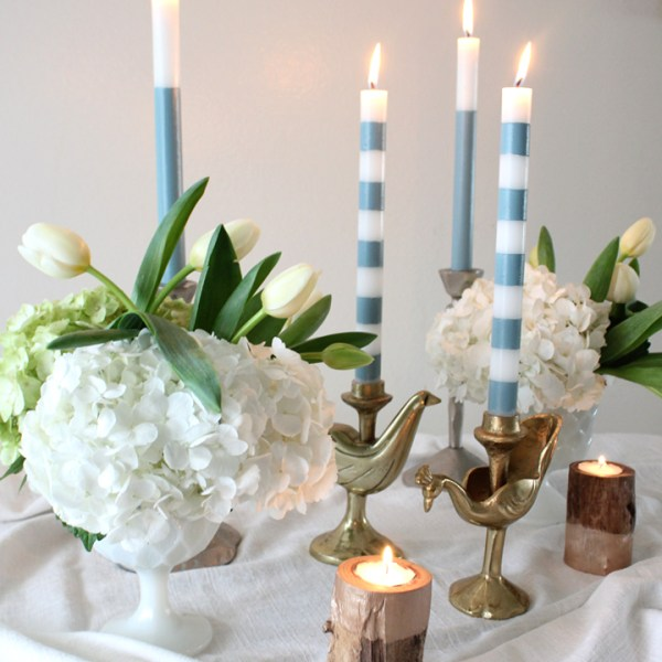DIY Painted Taper Candles