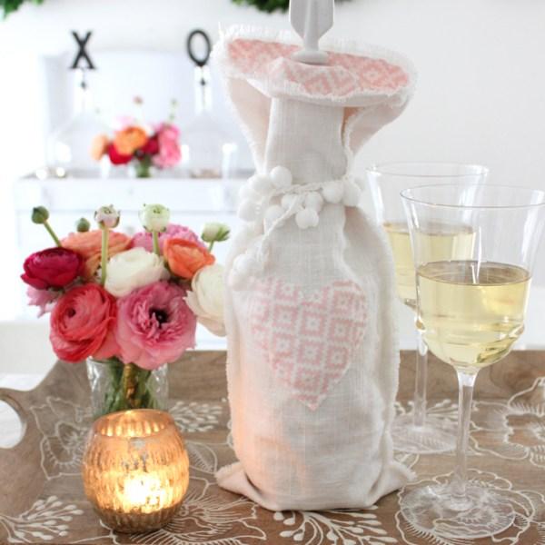 DIY Wine Gift Bag Tutorial | Tonality Designs