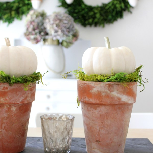 DIY Pumpkin Topiary Tutorial: Easy Fall Decor