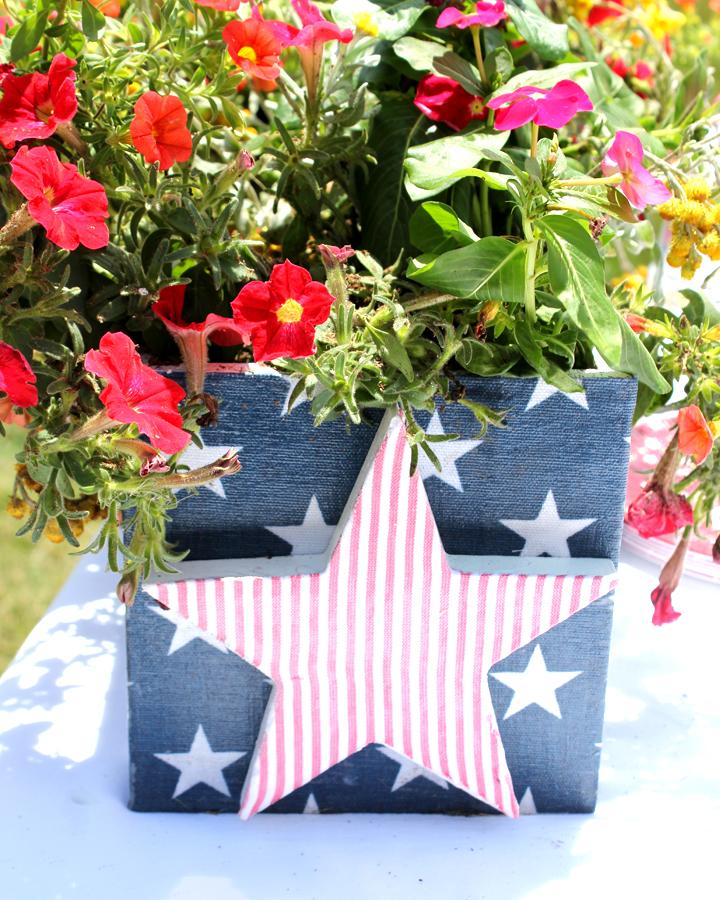DIY Fourth of July Planter Box