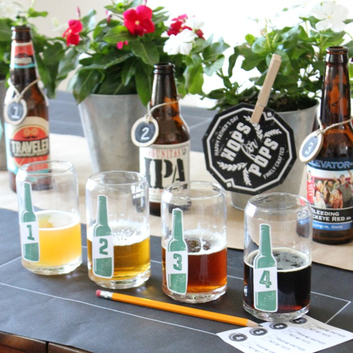 Father's Day Beer Tasting with FREE Downloadable Printables