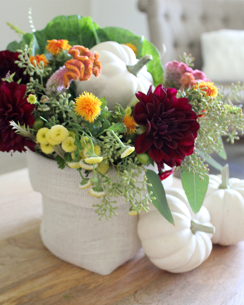10 Fall Floral Arrangement Ideas including how to use baby pumpkins