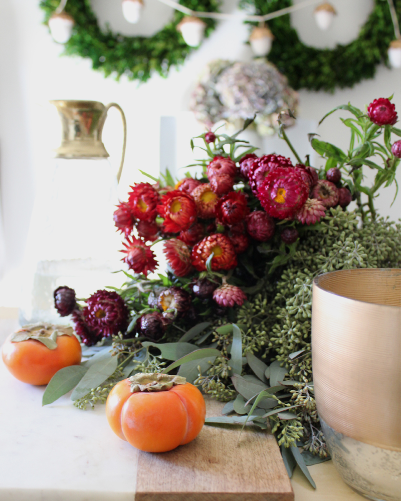10 Fall Floral Arrangement Ideas Including Using Strawflowers