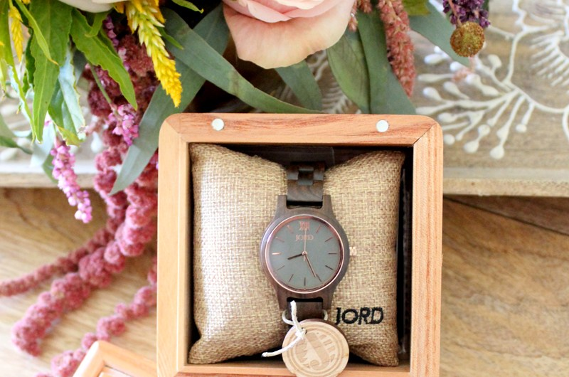JORD Frankie35 Dark Sandlewood & Slate Wood Watch