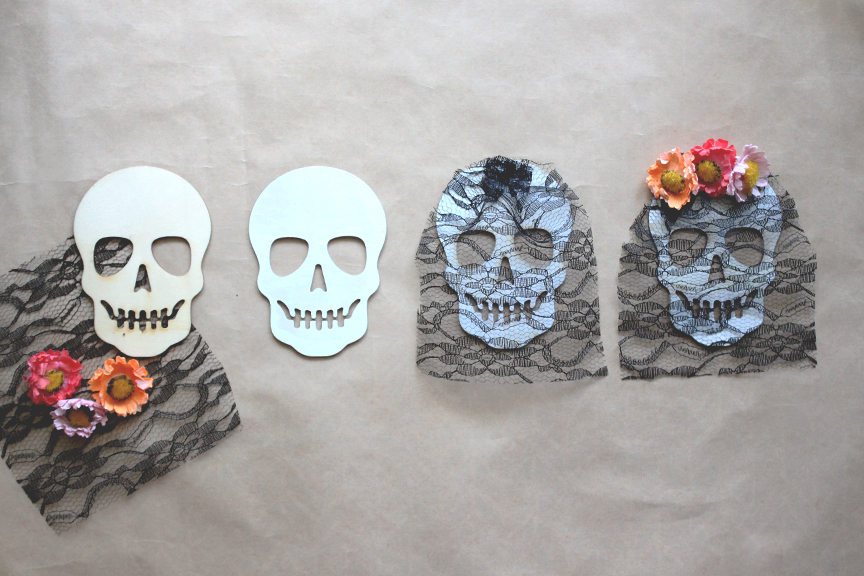 DIY Flower Sugar Skull for Day of the Dead Party