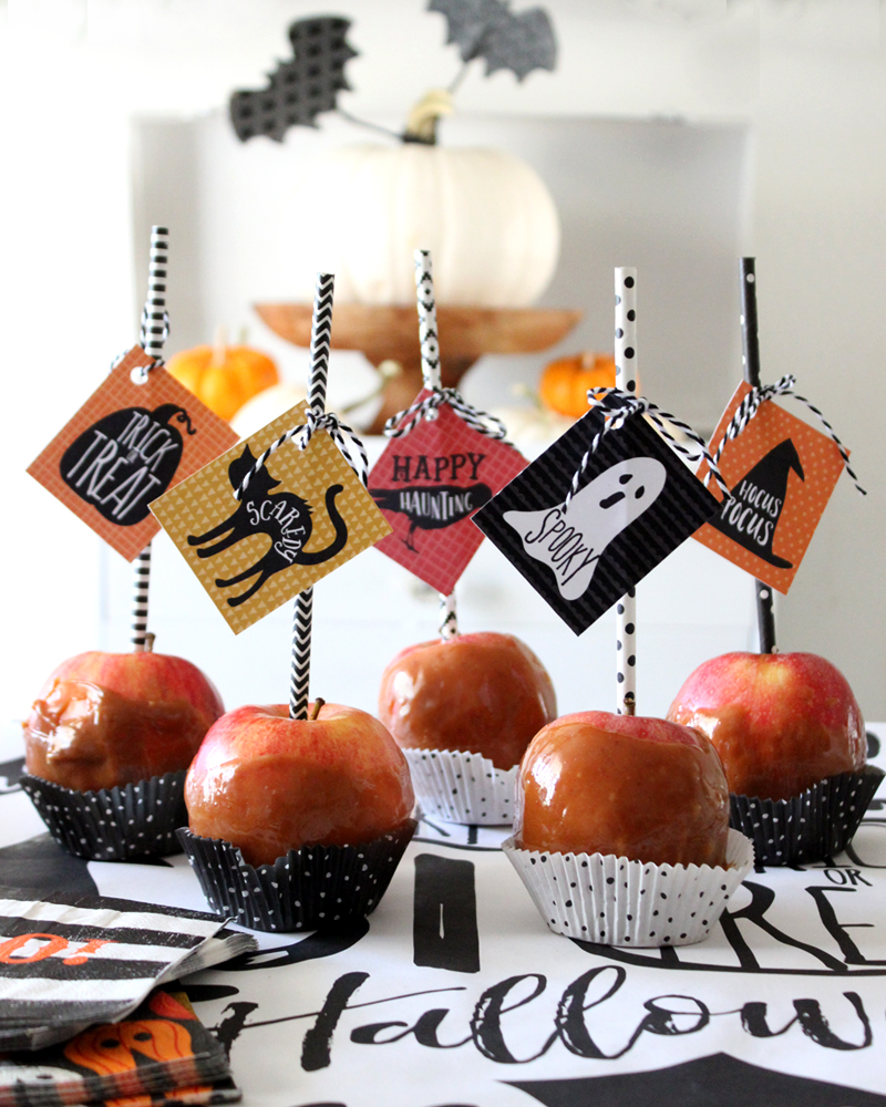 Caramel Apple Tips & Halloween Printable Tags