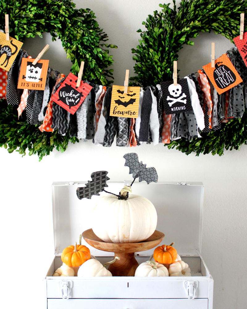 Halloween Printable Tags as Banner