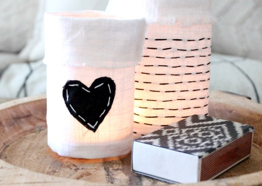 DIY Embroidered Jar & Bottle Covers