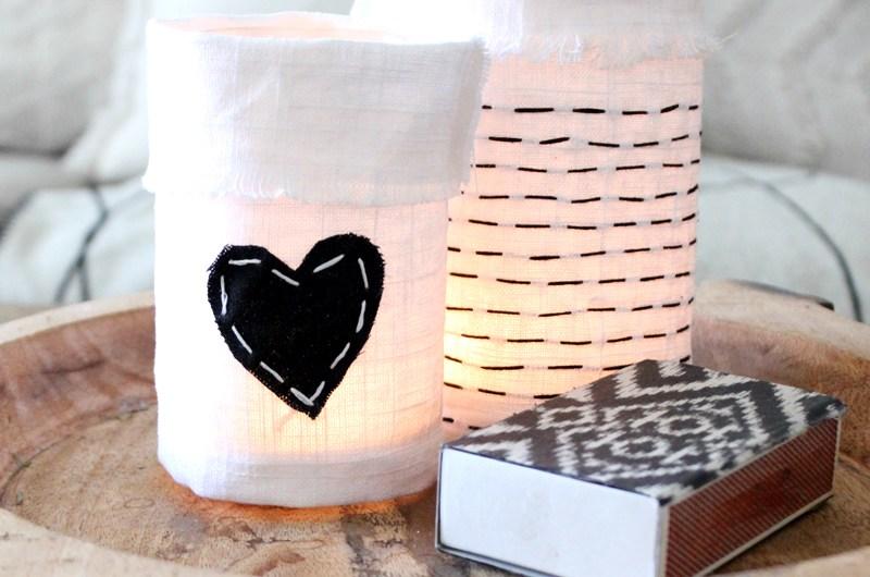 DIY Embroidered Jar & Bottle Covers