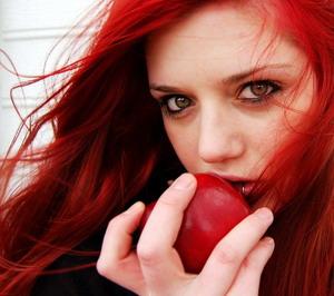 raudoni plaukai