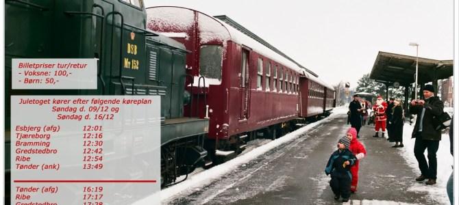 Julebyen Tønder: Veterantog Vest kommer til byen med julegæster