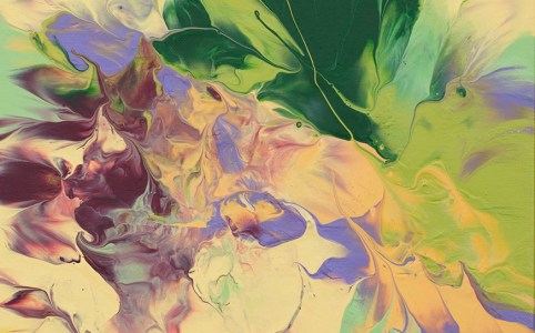 Buttercup 1 abstract painting