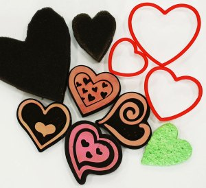 Assorted heart stamps