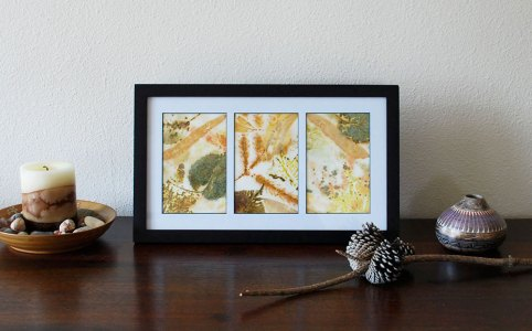 Cassandra Tondro leaf print collage frame