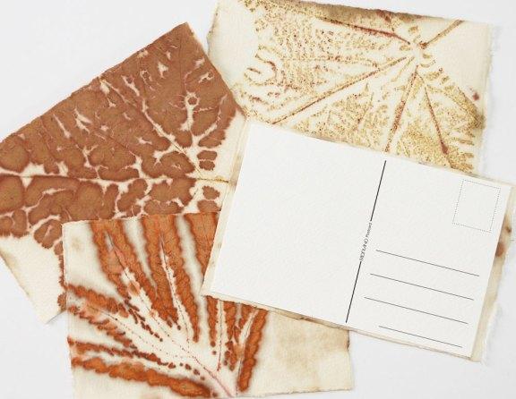 Leaf Print Postcard DIY Project