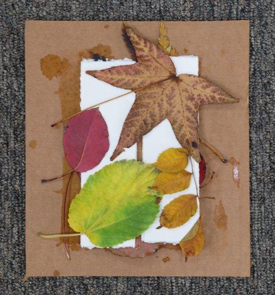 Cassandra Tondro Leaf Print bookmark DIY project