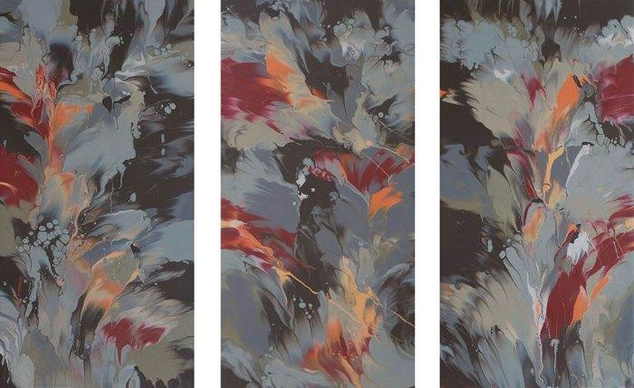 "Cassandra Tondro, ""Burn Bright,"" fire energy painting"