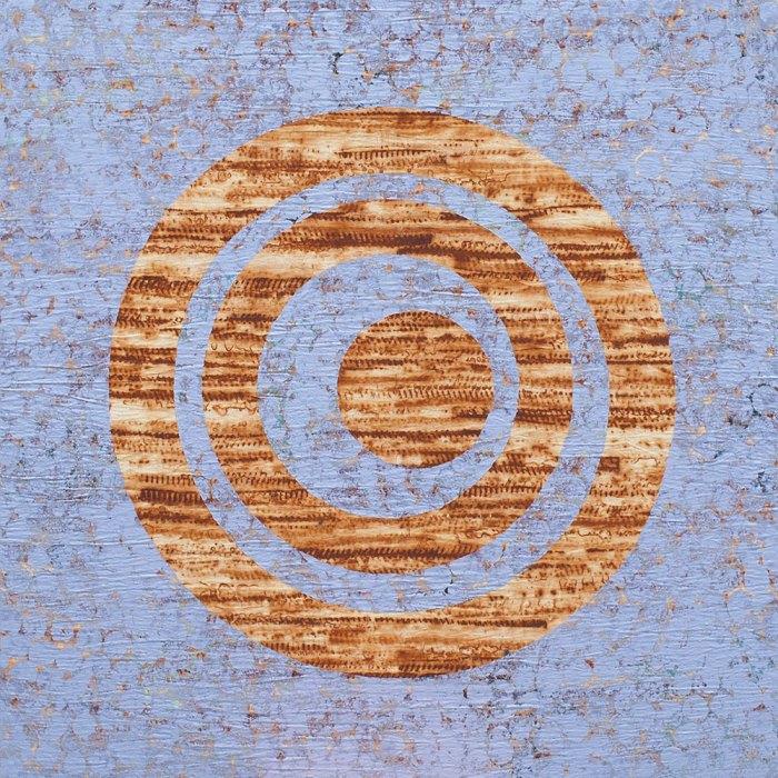 "Cassandra Tondro, ""Rings of Life,"" contemporary rust art"