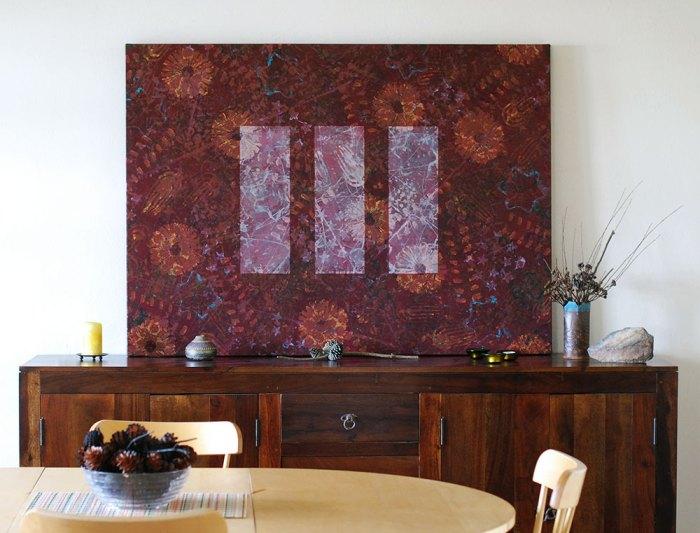 "Cassandra Tondro, Equilibrium,"" abstract painting"