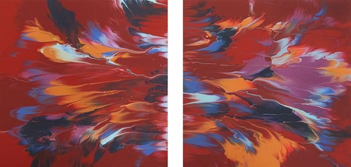 """Cassandra Tondro, """"Big Bang,"""" abstract painting"""