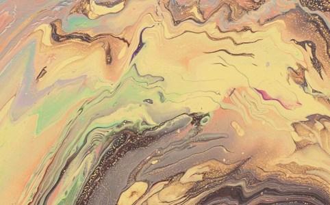 Cassandra Tondro poured painting